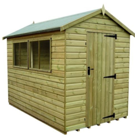 Tanalised Apex Shed